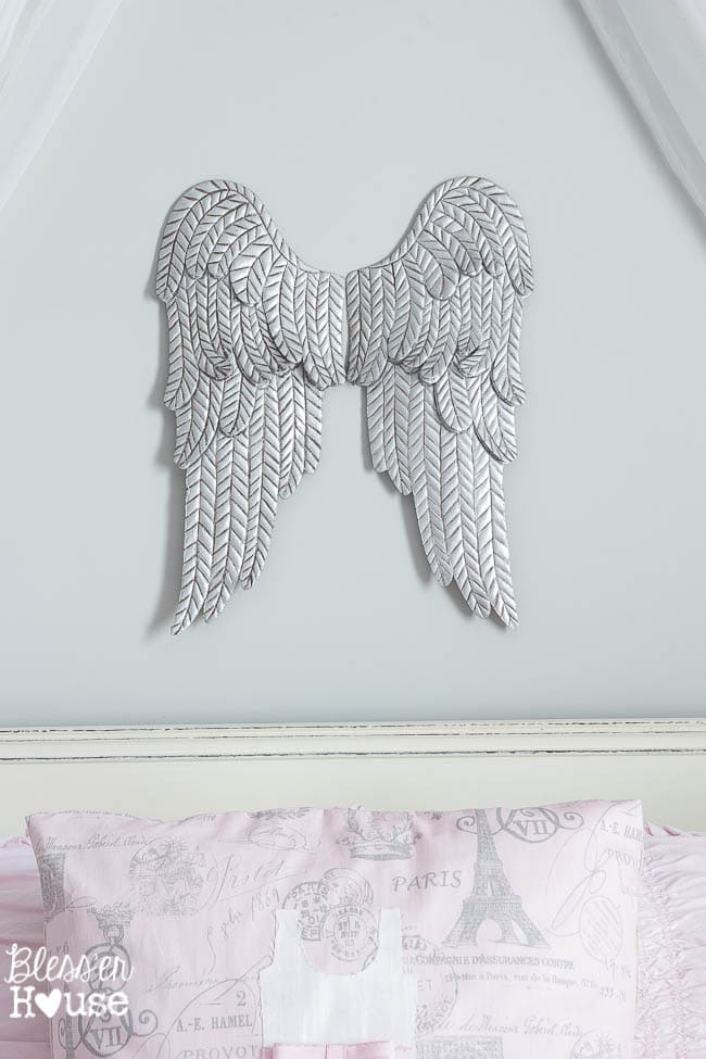 Aged Metal Angel Wings | Bless'er House