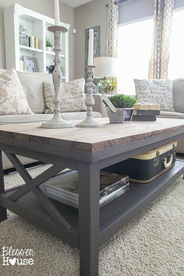 Plank Coffee Table ~ Barn wood top coffee table