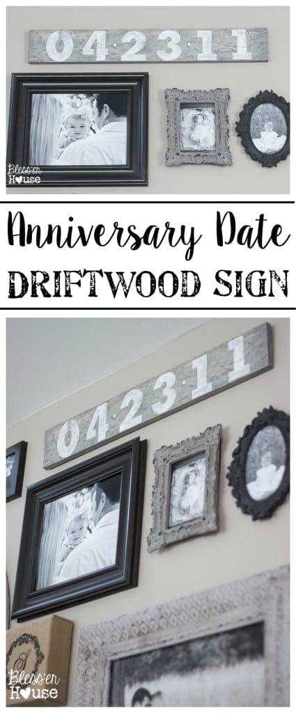 Anniversary Date Driftwood Sign | Bless'er House