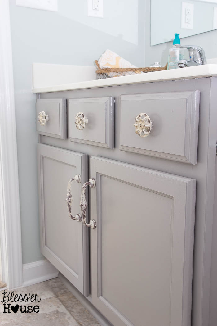 Painting Bathroom Cabinet the beginner's guide to painting cabinets