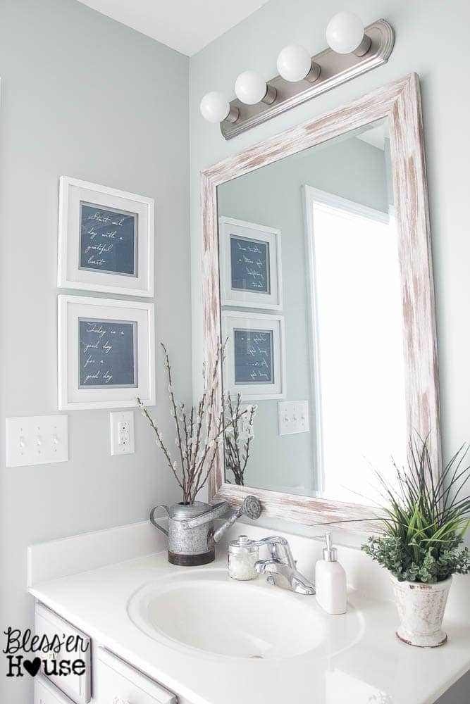 The Cheapest Resource For Bathroom Mirrors (and Bathroom Makeover Progress)  | Blessu0027er
