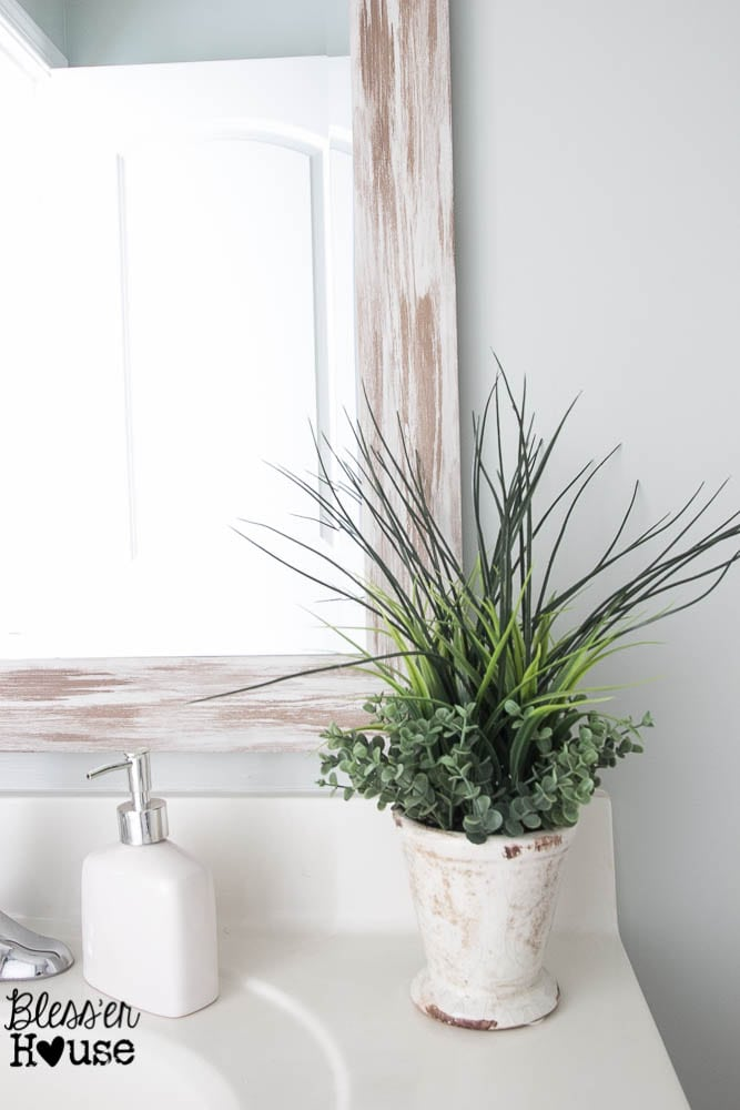 the cheapest resource for bathroom mirrors and bathroom makeover progress
