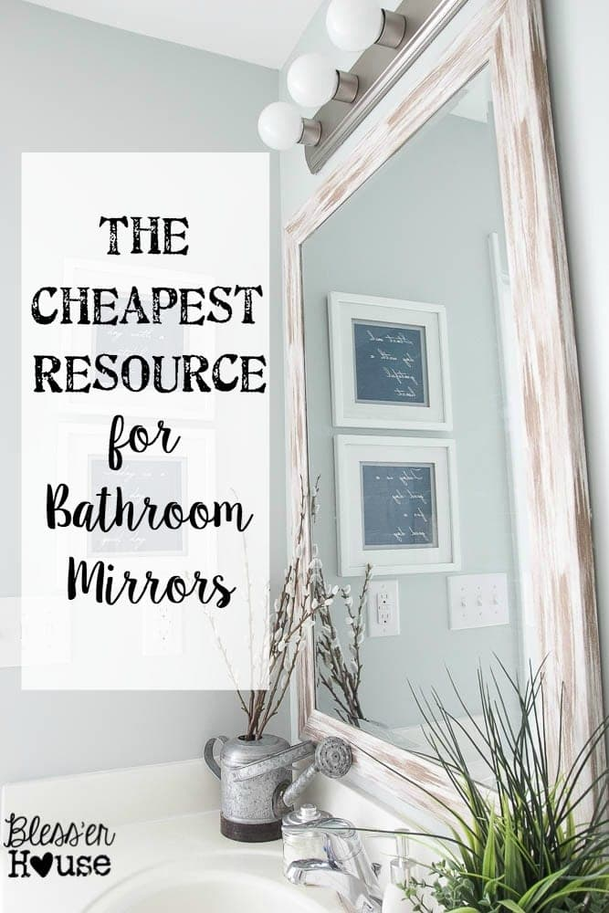 The Cheapest Resource For Bathroom Mirrors And Bathroom Makeover Progress Bless Er
