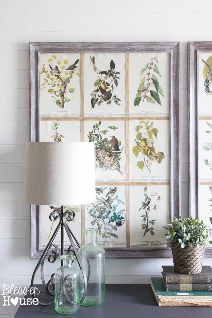DIY Book Page Botanical Art | Bless'er House - So pretty and cheap!