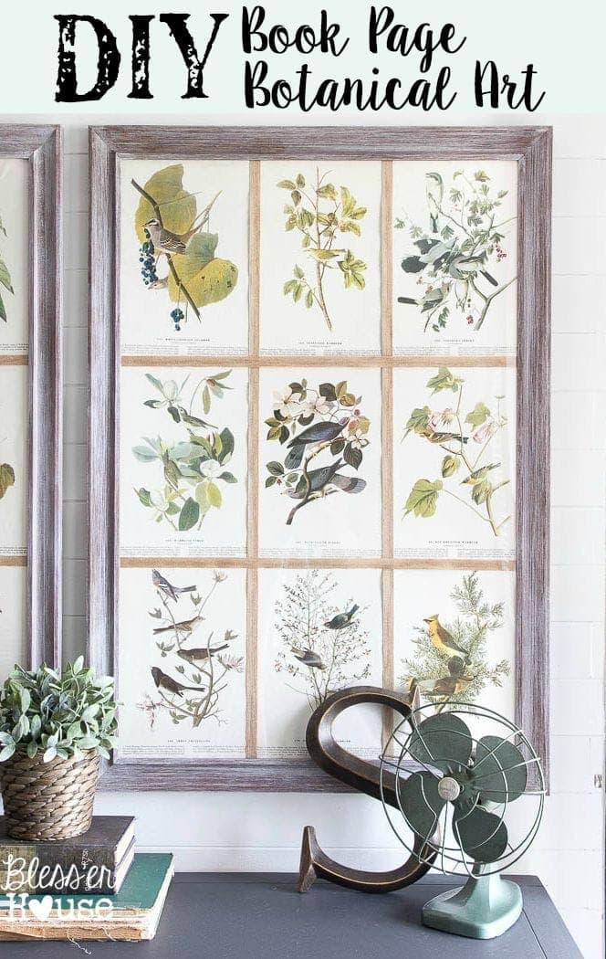 DIY Book Page Botanical Art