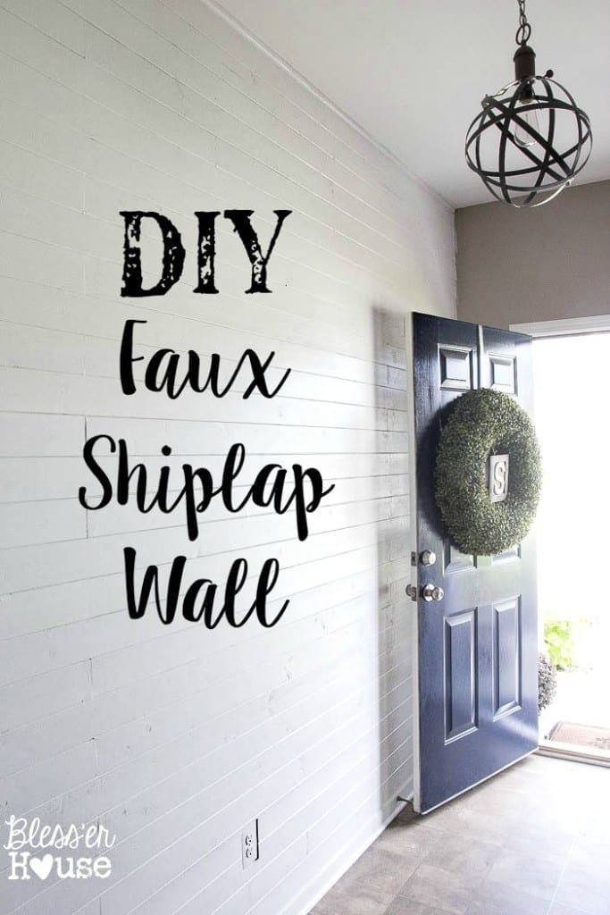 DIY Faux Shiplap Wall | Bless'er House