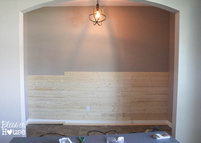 DIY Faux Shiplap Wall - Cost of shiplap vs sheetrock