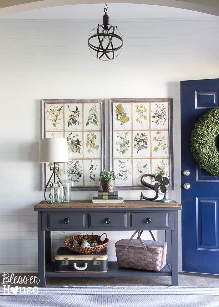 Modern Farmhouse Foyer Makeover