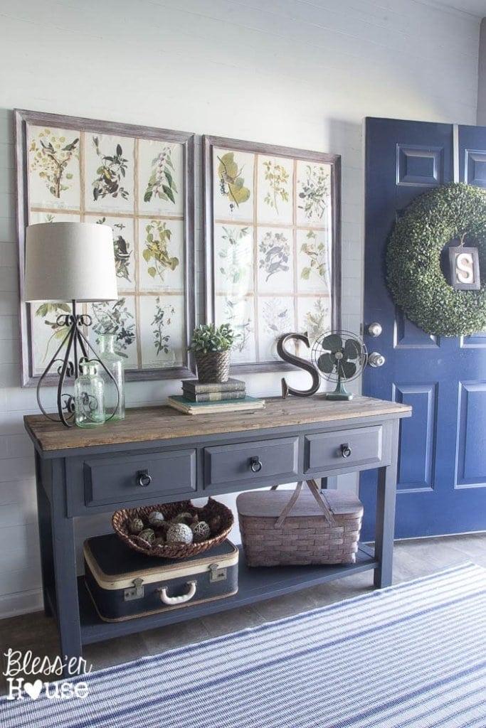 Modern Farmhouse Foyer Makeover | Bless'er House