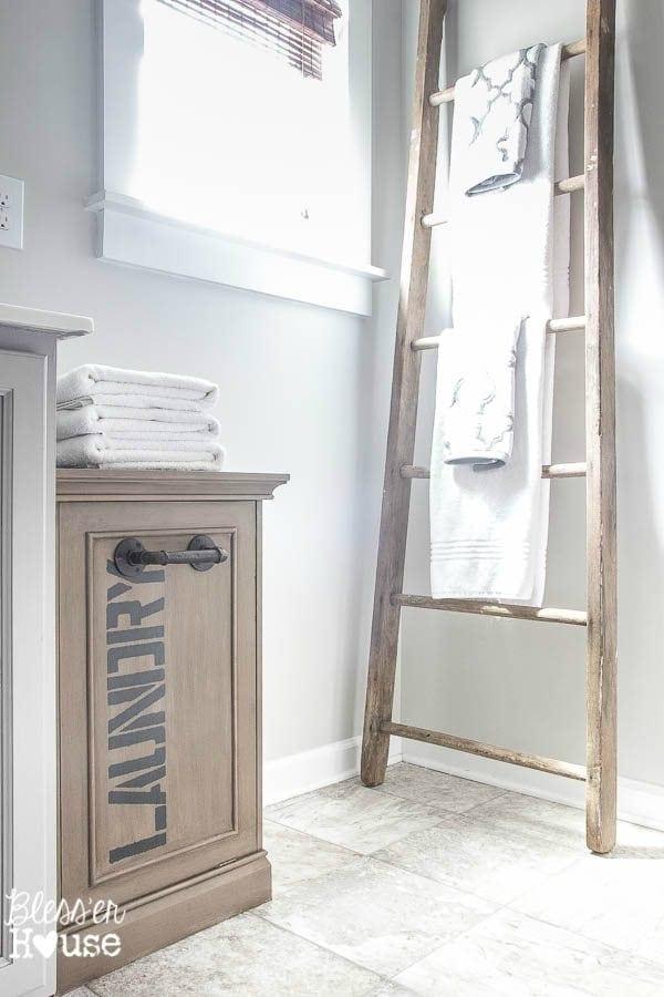 Industrial Style Laundry Hamper Makeover   Bless'er House