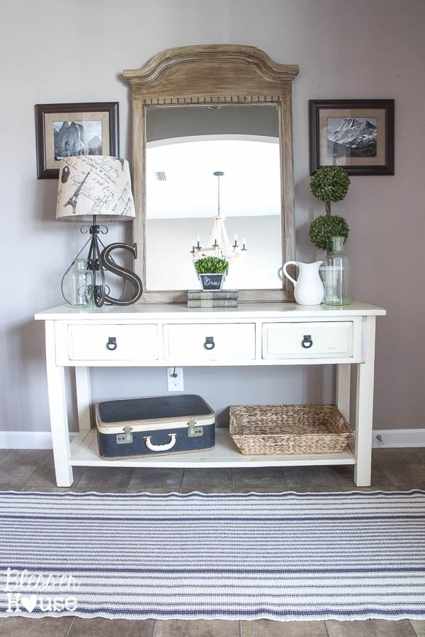 Cheap Foyer Table Mirror Sets : Modern farmhouse foyer makeover