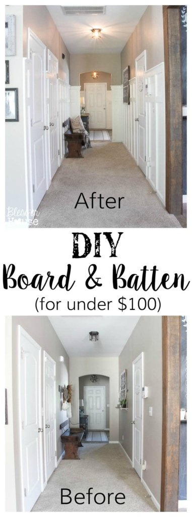 DIY Board and Batten for Under $100 + Glidden Review & Giveaway | Bless'er House