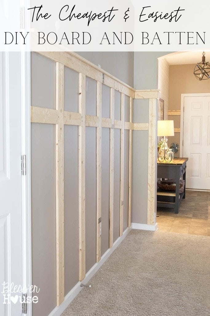Cheapest and Easiest DIY Board and Batten - 8 simple steps to take the guess work out of building cheap board and batten to add character and timeless detail to plain walls.