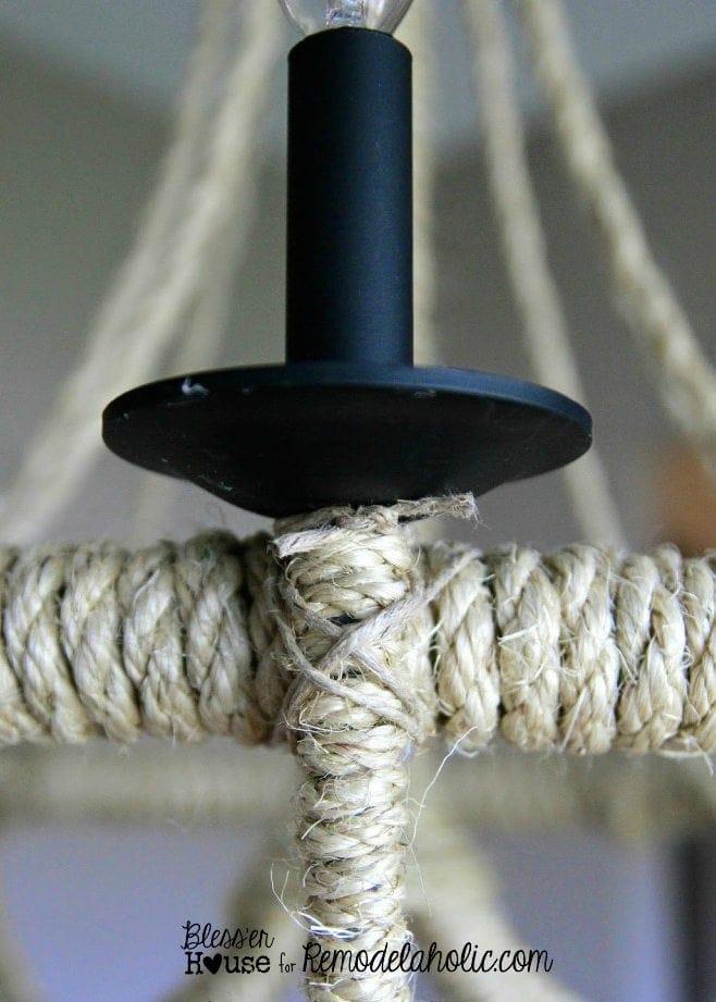 DIY Rope Chandelier