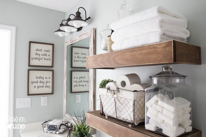 Modern Farmhouse Bathroom Makeover | Blessu0027er House   So Many Great Ideas  To Create