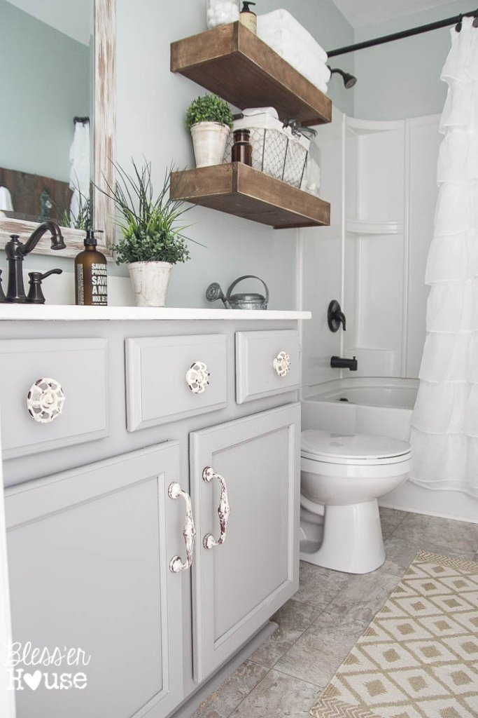 Modern Farmhouse Bathroom Makeover Reveal on Modern Farmhouse Shower  id=17105