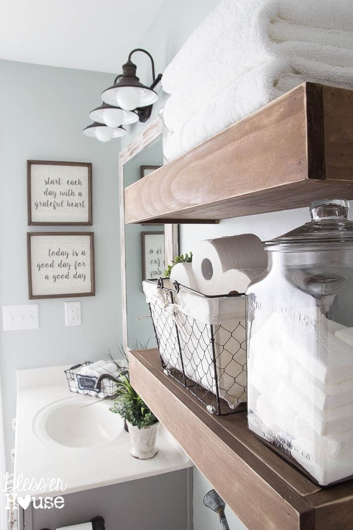 Modern Farmhouse Bathroom Makeover Reveal on Farmhouse Bathroom Ideas  id=25412