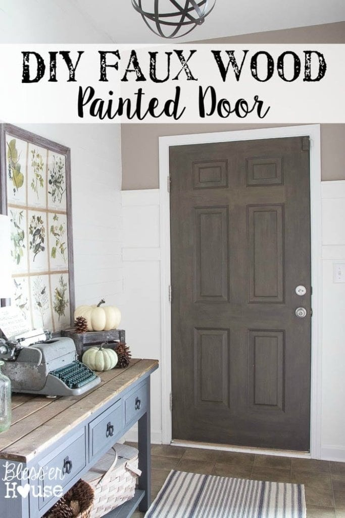 Diy Faux Wood Painted Door