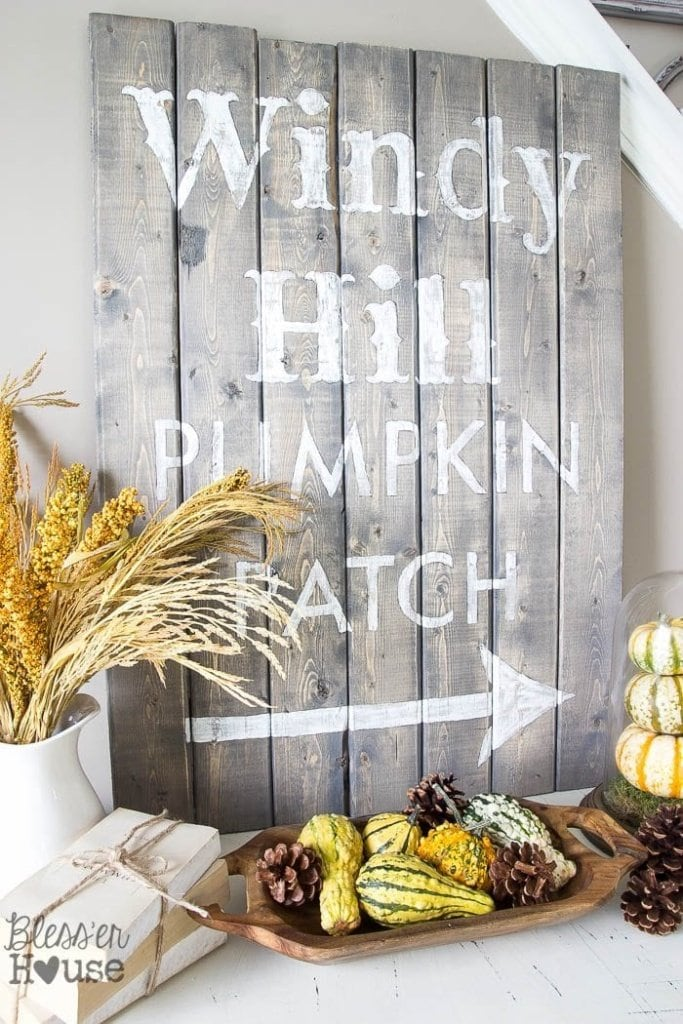 DIY Pumpkin Patch Sign Tutorial + Template | Bless'er House