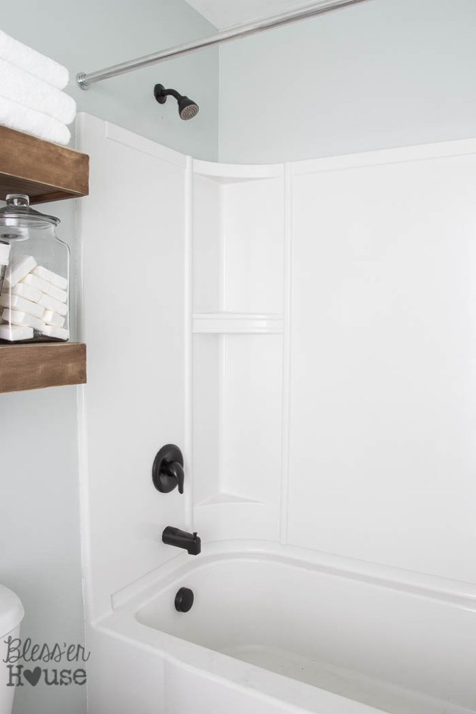 These Sleek Black Fixtures Look Brand New, But They Were SO Easy To Paint  And