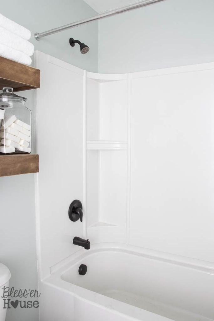 How To Spray Paint Shower Fixtures Easy DIY Method Blesser House - Refinish chrome bathroom fixtures
