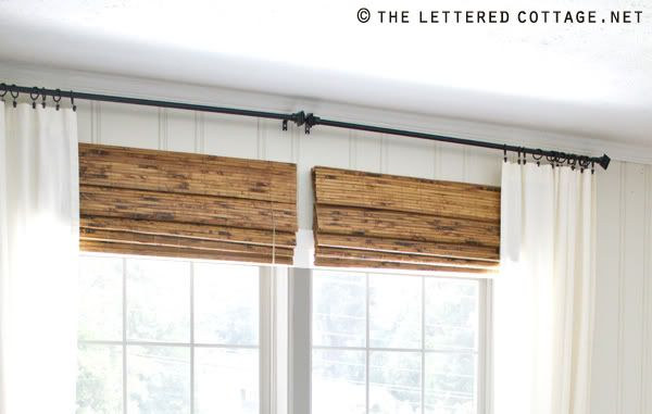 Modern Rustic Master Bedroom Design Plan | www.blesserhouse.com | white curtains with bamboo shades