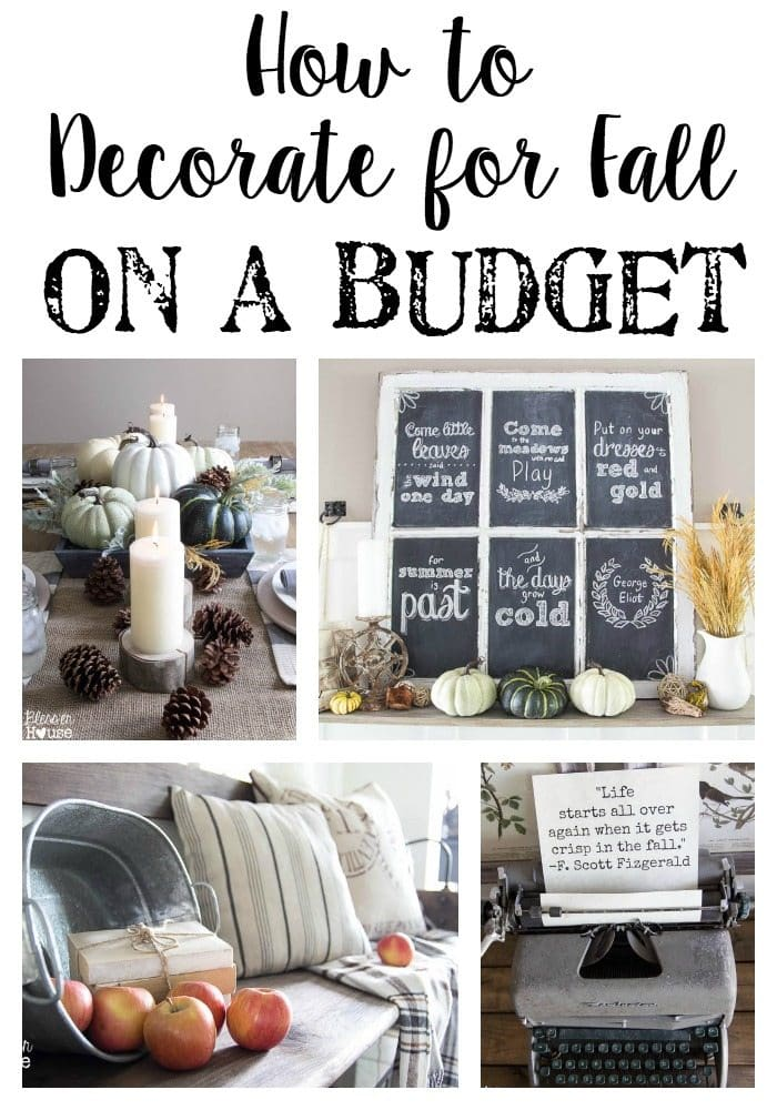 How To Decorate For Fall On A Budget Blesserhouse