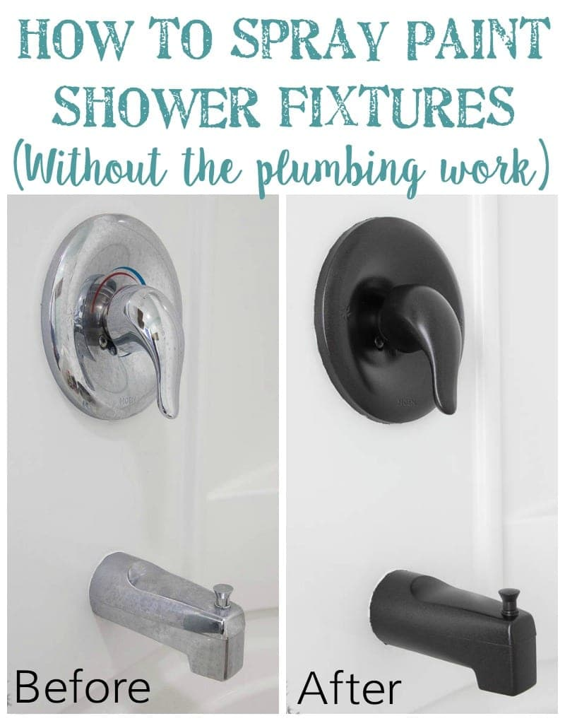 Bathroom Fixtures For Less how to spray paint shower fixtures