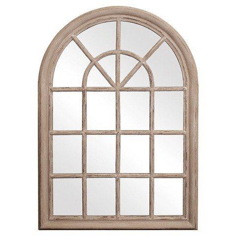 Modern Rustic Master Bedroom Design Plan | www.blesserhouse.com |arched window mirror
