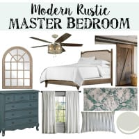 Modern Rustic Master Bedroom Design Plan