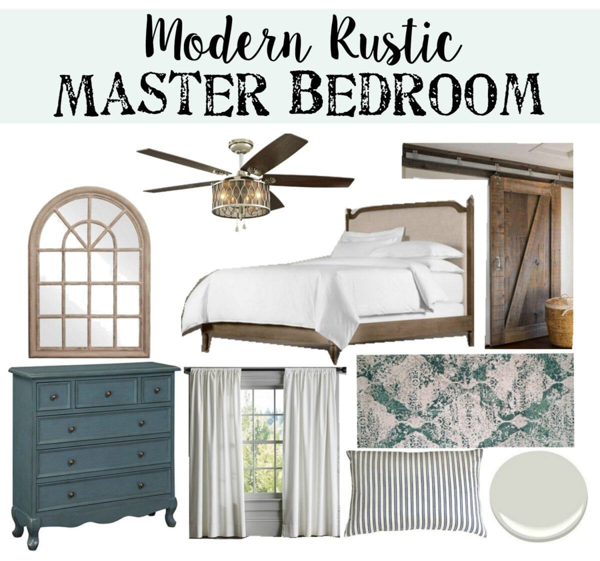 Modern Classic And Rustic Bedrooms: Modern Rustic Master Bedroom Design Plan