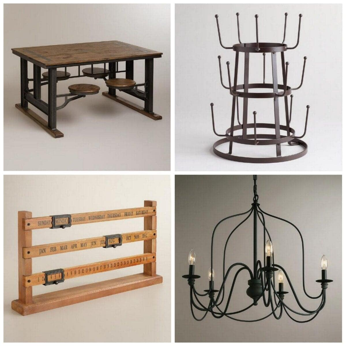 Where To Buy Affordable Industrial Farmhouse Decor Blesser House - World market industrial table