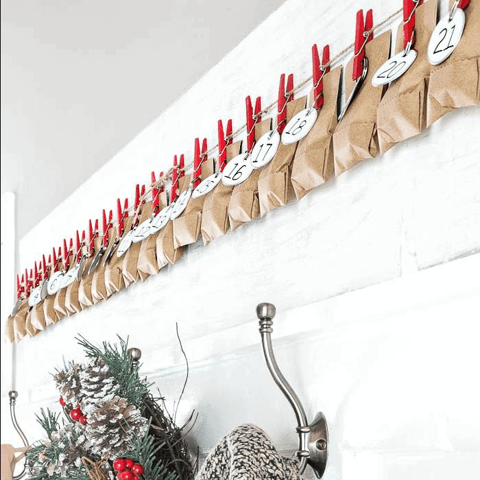 DIY Clothespin Advent Calendar
