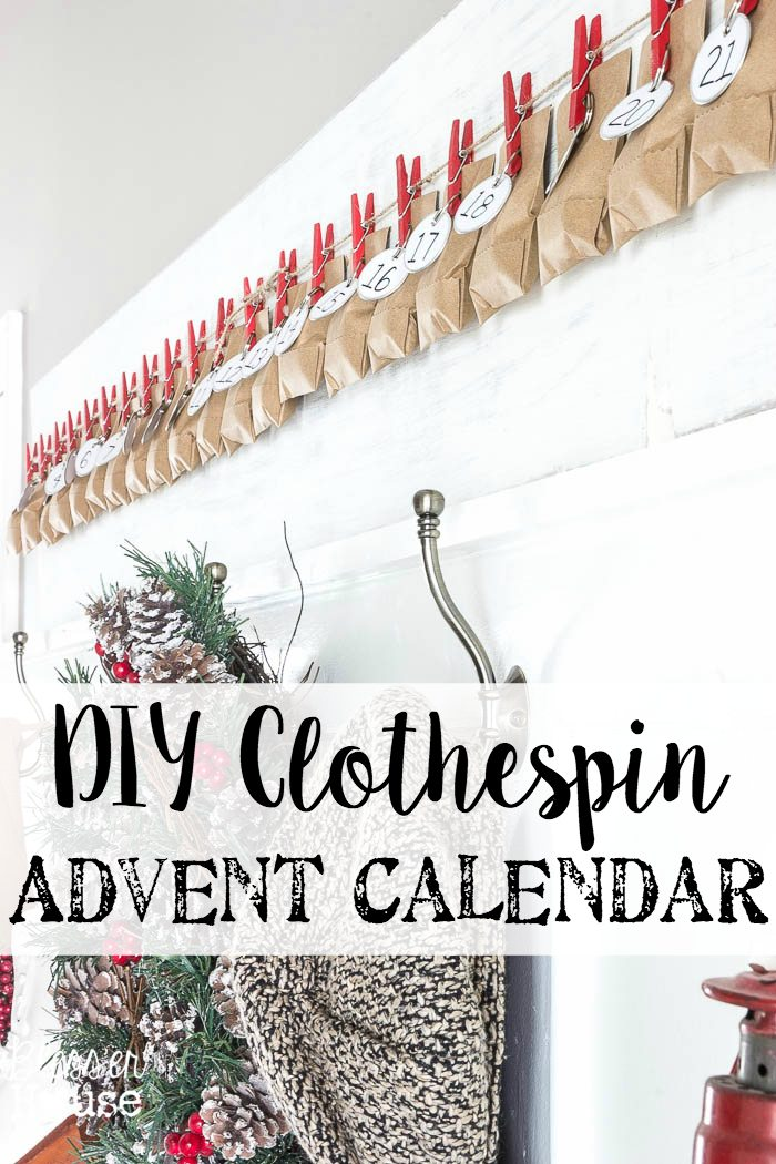 Calendar Advent Diy : Diy clothespin advent calendar