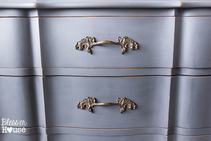 French Provincial China Cabinet Makeover in 2 Easy Steps   blesserhouse.com