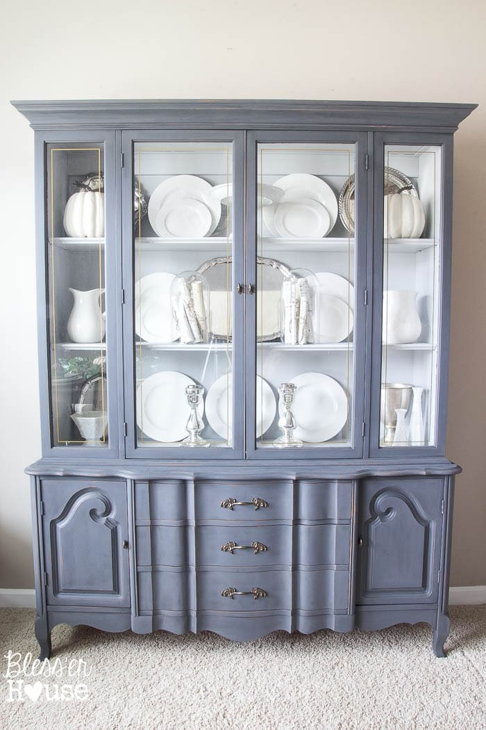 French Provincial China Cabinet Makeover In 2 Easy Steps Blesserhouse