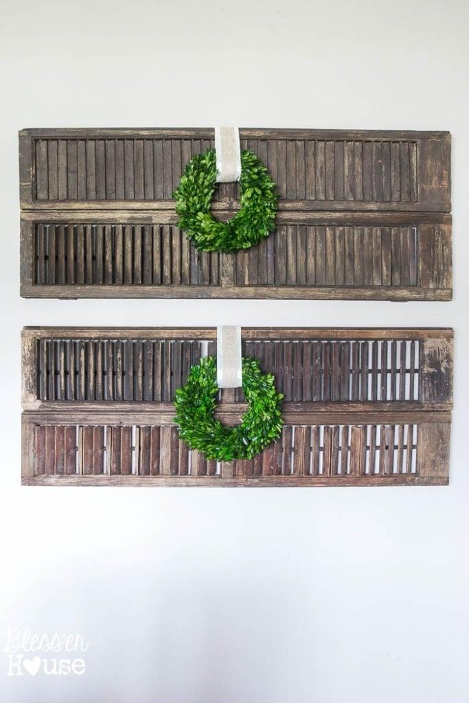 Thrifty Shutter Wall Decor | blesserhouse.com