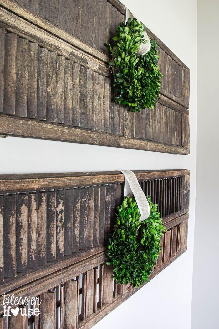 Thrifty shutter wall decor - Decorative interior wall shutters ...