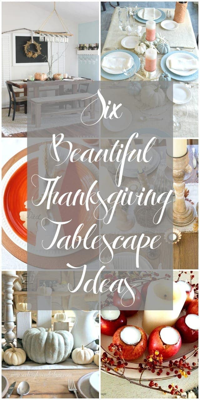 Six Beautiful Thanksgiving Tablescape Ideas   Bragworthy Thursdays  blesserhouse.com
