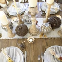 6 Beautiful Thanksgiving Tablescape Ideas + BWT #6