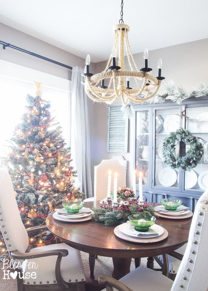 Woodland Christmas Home Tour 2015 Part 1 | blesserhouse.com | dining room