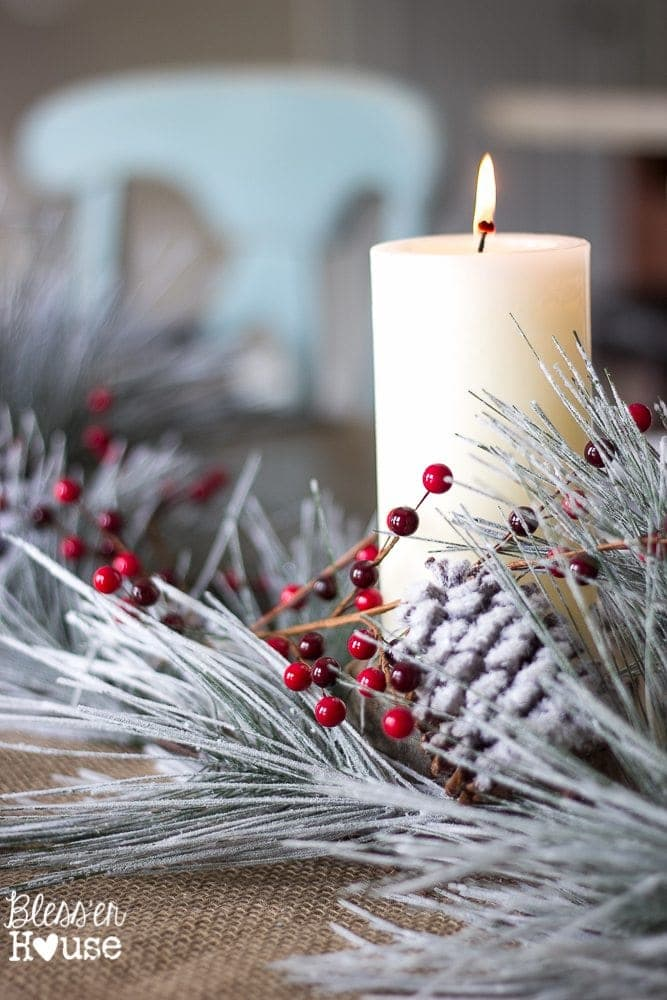 Christmas Home Tour 2015 Part 2 | blesserhouse.com | tablescape
