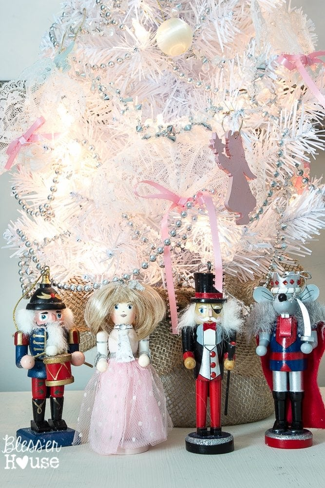 Woodland Christmas Home Tour 2015 Part 1 | blesserhouse.com | Nutcracker theme little girl bedroom