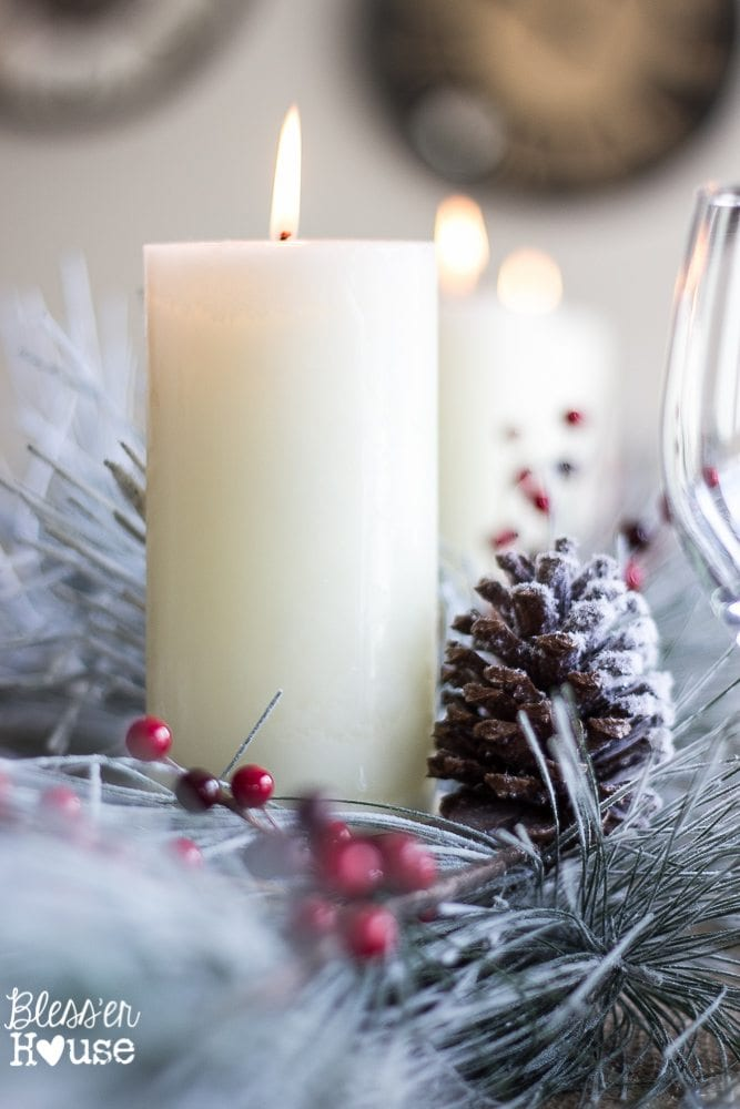 Woodland Christmas Home Tour 2015 Part 1 | blesserhouse.com | tablescape