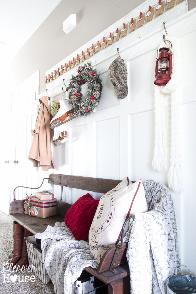 Christmas Home Tour 2015 Part 2 | blesserhouse.com | entryway