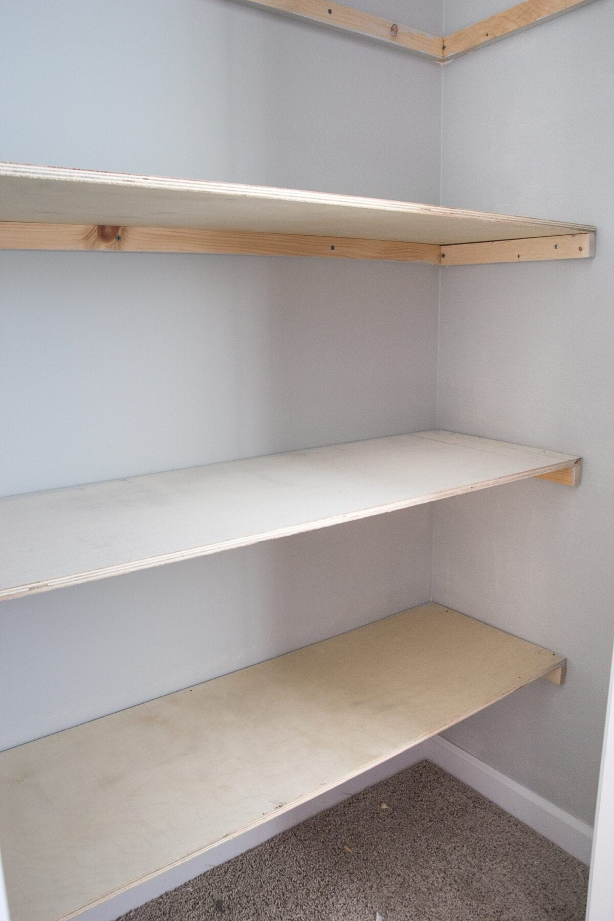 Bathroom Floor Idea Basic Diy Closet Shelving