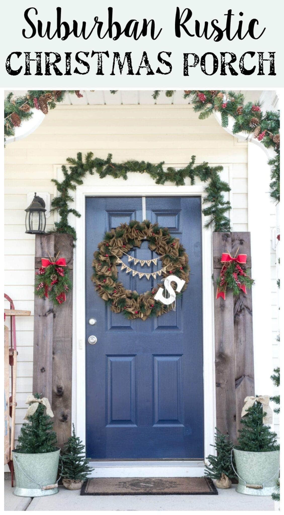 suburban rustic christmas front porch blesserhousecom - Christmas Front Porch