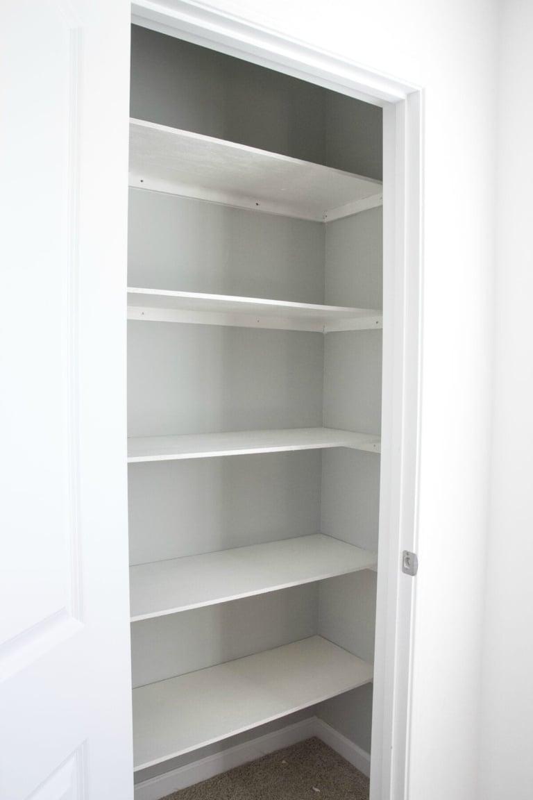 Basic DIY Closet Shelves