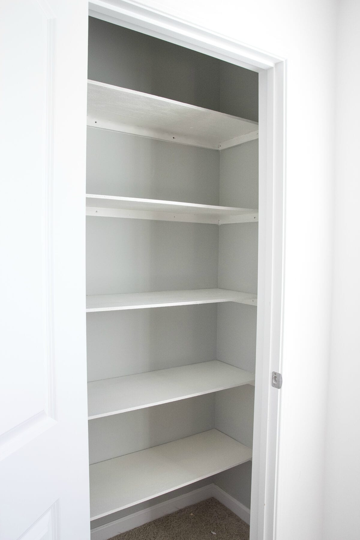 Basic DIY Closet Shelving