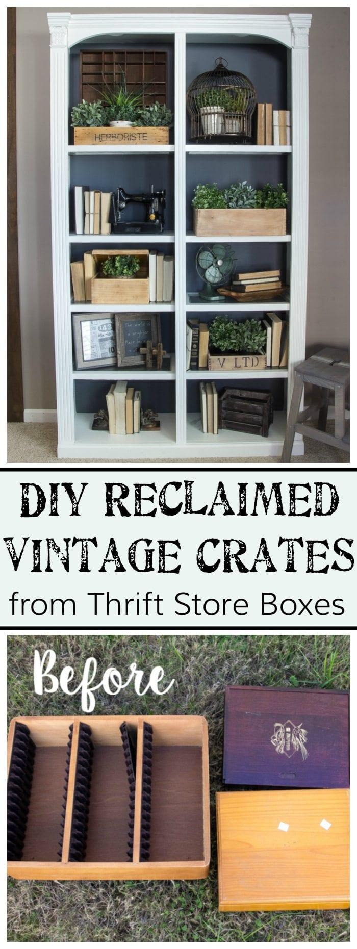 DIY Reclaimed Vintage Crates